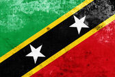 Grunge Saint Kitts and Nevis Flag — Stock Photo