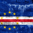 Cape Verde Flag painted on grunge wall — Stock Photo