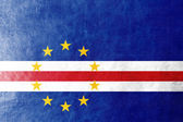 Cape Verde Flag painted on leather texture — Foto Stock
