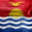 Kiribati Flag painted on old wood plank texture — Stock Photo #39852461