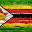 Zimbabwe Flag painted on brick wall — Stock Photo #39852897