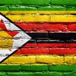 Zimbabwe Flag painted on brick wall — Stock Photo