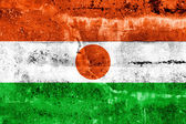 Niger Flag painted on grunge wall — Stock Photo