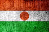 Niger Flag painted on luxury crocodile texture — Stock Photo