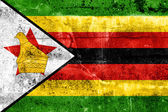 Zimbabwe vlag geschilderd op grunge muur — Stockfoto