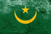 Bandera de mauritania Grunge — Foto de Stock