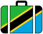 Suitcase with Tanzania Flag — Stock Photo