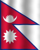 Bandeira do nepal — Fotografia Stock