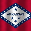 Stock Photo: Waving Arkansas State Flag