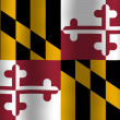Stock Photo: Waving Maryland State Flag