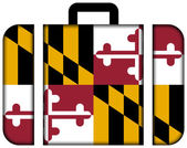 Suitcase with Maryland State Flag — Stock Photo
