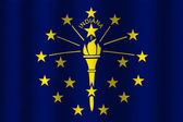 VWaving Indiana State Flag — Stock Photo