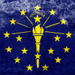 Grunge Indiana State Flag — Stock Photo