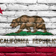 CaliforniState Flag painted on brick wall — Stock Photo #40007609