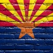 ArizonState Flag painted on brick wall — Stock Photo #40007773
