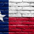 Texas State Flag painted on brick wall — Stock Photo