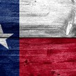 Texas State Flag painted on old wood plank texture — Stock Photo