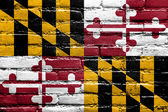 Maryland State Flag painted on brick wall — Stock Photo
