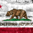 California State Flag painted on grunge wall — Stock Photo
