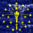 Indiana State Flag painted on grunge wall — Stock Photo