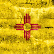 New Mexico State Flag painted on grunge wall — Stock Photo