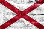 Alabama State Flag painted on grunge wall — Stock Photo