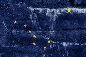 Alaska State Flag painted on grunge wall — Stock Photo