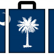 Stock Photo: Suitcase with South CarolinFlag