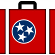 Suitcase with Tennessee State Flag — Stock Photo