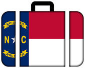 Suitcase with North Carolina Flag — Stock Photo