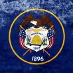 Grunge Utah State Flag — Stock Photo