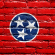 Stock Photo: Tennessee State Flag painted on brick wall