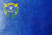 Nevada State Flag painted on leather texture — Stock Photo