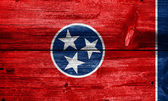 Tennessee State Flag painted on old wood plank texture — Stock Photo