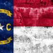 North Carolina State Flag painted on grunge wall — Stock Photo #40231051