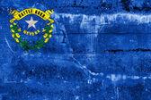Bandera del estado de nevada pintado en la pared de grunge — Foto de Stock