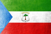 Equatorial Guinea Flag painted on leather texture — Stock Photo