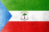 Bandera de guinea ecuatorial pintado en textura de piel — Foto de Stock