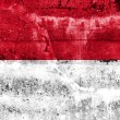 Stock Photo: IndonesiFlag painted on grunge wall
