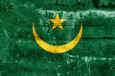 Mauritania Flag painted on grunge wall — Stock Photo