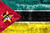 Mozambique Flag painted on grunge wall — Foto Stock