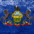 Grunge Pennsylvania State Flag — Stock Photo
