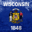 Grunge Wisconsin State Flag — Stock Photo #40409719