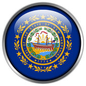 New Hampshire State Flag glossy button — Stock Photo
