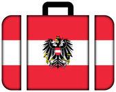 Koffer mit Österreich-Flagge — Stockfoto
