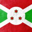 Burundi Flag painted on leather texture — Stock Photo