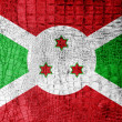 Burundi Flag painted on luxury crocodile texture — Stock Photo