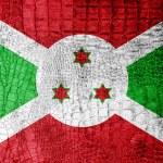 Burundi Flag painted on luxury crocodile texture — Stock Photo