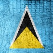 Stock Photo: Saint LuciFlag painted on luxury crocodile texture