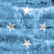 Micronesia Flag painted on grunge wall — Stock Photo